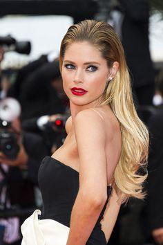 La coiffure de Doutzen Kroes à Cannes.