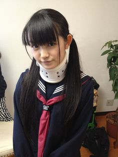 "Su-Metal with ""headbanger"" neck brace. See video in following pin. SERIOUSLY DISTURBING, CREEPY AF"