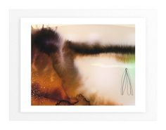 """""""Landsplashes Series : Misty"""" - Art Print by V E R Y M A R T A in beautiful frame options and a variety of sizes."""