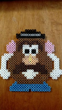 Mr. Potato Head Perler Beads Magnet