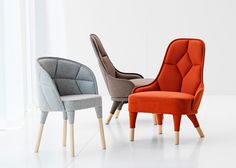 Emily chair with larger Emma chairs by Swedish-French design duo Färg & Blanche