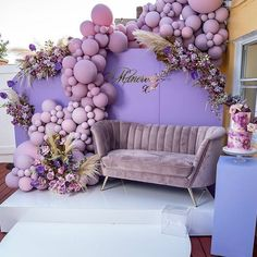 """Reigning Supreme (@reigningsupreme_) posted on Instagram: """"Happy Wednesday Insta fam‼️ Double tap to show some love. We are partying outdoors again with this gorgeous purple design. You guys know…"""" • Oct 28, 2020 at 11:15pm UTC Sweet 16 Party Decorations, Wedding Balloon Decorations, Birthday Balloon Decorations, Wedding Balloons, Baby Shower Decorations, 18th Birthday Party, Birthday Party Themes, Elegant Birthday Party, Quinceanera Themes"""