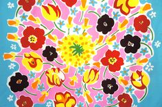 Florestan  by Maija Isola  1976/ Kristina Isola  2012.      Hello New Year, and hello the new bright colours Marimekko brings to our life...