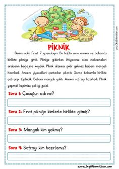 Turkish Lessons, Learn Turkish, Turkish Language, Classroom Rules, Reading Passages, Learning Arabic, Stories For Kids, First Grade, Learn English