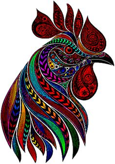 sticker by Discover all images by Find more awesome rooster images on PicsArt. Rooster Painting, Rooster Art, Dot Art Painting, Chicken Painting, Chicken Art, Arte Do Galo, Rooster Images, Rooster Tattoo, Arte Popular