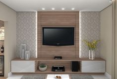 154 the perfect tv wall will surprise the guests 20 Tv Cabinet Design, Tv Wall Design, Interior Design Living Room, Living Room Decor, Tv Wanddekor, Living Room Tv Unit Designs, Tv Unit Furniture, Plafond Design, Tv Wall Decor