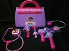 Disney Doc McStuffins Doctor Kit Stethoscope Blood Pressure Pretend play Dr case #Disney