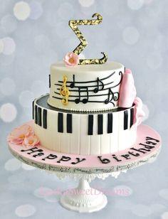 Musical cake Fast bara en våning. Underdelen runtom,  överdelen på översidan