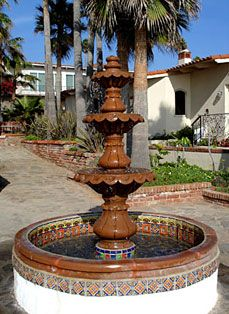 Garden talavera fountain talavera pottery pinterest for Garden fountains phoenix