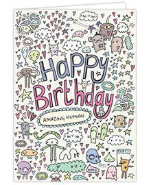 Amazing Human Birthday Card