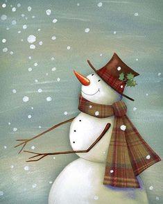 Art Studios Premium Thick-Wrap Canvas Wall Art Print entitled Christmas Magic Snowman, None Outdoor Christmas Tree Decorations, Diy Christmas Garland, Christmas Door, Christmas Centerpieces, Christmas Snowman, Christmas Crafts, Burlap Christmas, Christmas Time, Image Halloween