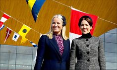 Crown Princess Mette-Marit and Crown Princess Mary attended the commemoration of the battle of Heligoland in 1864.