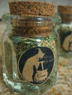 awitchesbroom:  Rita's Kitchen LOVE Herbs and Spices by RitaSpiritualGoods on Etsy