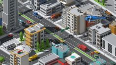SimplePoly Urban - Low Poly Assets | 3D Model Game Environment, Isometric Design, Unique Buildings, Modern City, 3d Projects, Low Poly, Exterior, Urban, Minecraft
