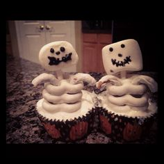My ghost cupcakes