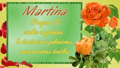 Martina   Prajem Ti všetko najlepšie k dnešnému peknému meninovému dníčku