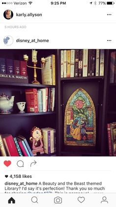 Beauty and the Beast themed library