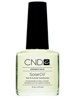 "Mmmm...smells like cookies.  CND Solar Oil - InStyle Best Beauty Buys 2013 Cuticle Oil Winner     Barking cuticles simmer down with a drop of this cureall, a medley of sweet-almond, jojoba, rice-bran, and vitamin E oils. ""It smells like sugar cookies,"" says Kiss. Bonus: It penetrates even acrylic nails.  $7"