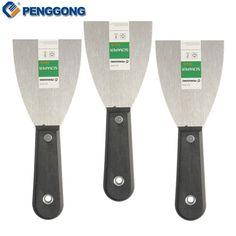 "3Pcs 3"" Putty Knife Shovel Carbon Steel Plastic Handle Scraper Blade Construction Tools Wall Plastering Knife Hand tools"