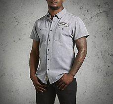 Micro-Stripe Mechanic's Shirt