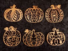 SLDK309 - Filigree Pumpkin Ornaments + Scroll Saw Patterns