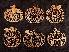 SLDK309 - Filigree Pumpkin Ornaments + Scroll Saw Patterns