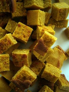 Grain-free chickpea croutons