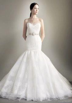 eve of milady spring 2013 strapless mermaid wedding dress crystal belt