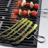 Sur La Table® Double Raft Stainless-Steel Grill Skewers - Also check out the grill clips