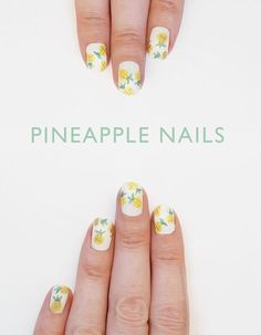Pineapple Nail Art: Tutorial! | Wonder Forest: Design Your Life.