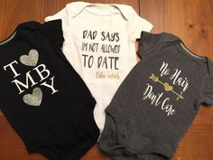 A personal favorite from my Etsy shop https://www.etsy.com/listing/517951203/onesies-for-her-baby-girl-no-hair-dont