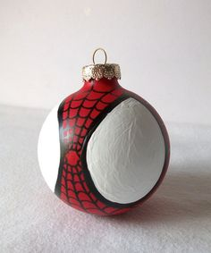 Spiderman Painted Holiday Christmas Ornament Amazing Spider Man Marvel Superhero
