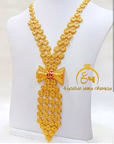Dubai Gold Jewelry, Gold Jewellery Design, Diy Jewellery, Gold Plated Necklace, Gold Necklace, Gold Ornaments, Gold Bangles, Necklace Designs, Bridal Jewelry