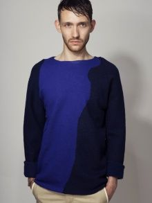 tonal blue jumper Jumper, Archive, Lisa, Label, Men's Fashion, Product Launch, Menswear, Shades, Knitting