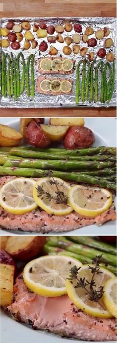 One-Pan Salmon And Vegetarian Recipe ! Tasty and Healthy.