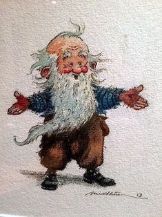 Aww... is he a gnome? A dwarf? Whichever, he looks like he wants a hug. :)