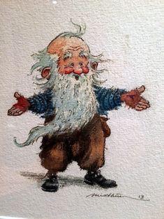 Aww... is he a gnome? A dwarf? Whichever, he looks like he wants a hug. :)