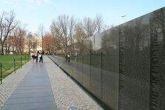 On November 13, 1982, three days after it opened to the public, the Vietnam Veterans Memorial was dedicated in Washington, D.C. The memorial, a V-shaped, polished stone wall with engravings of names o ...