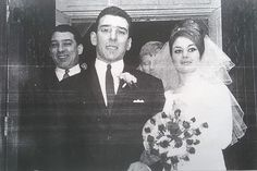 Lovely wedding photo. I've not seen this one before. Ronnie is actually smiling!!!