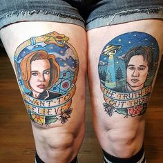 Finished up the matching Scully piece today. So much fun! #xfiles #scullyandmulder #scully #mulder #mulderandscully #thexfilestattoos