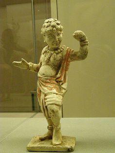 Antique chinese figure. Terracotta Musee  Cernuschi in Paris