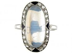 Cartier Moonstone And Diamond Deco Ring |