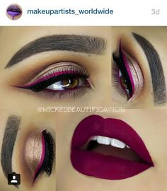 @wickedbeautification #wickedbeautification #maroon #burgundy