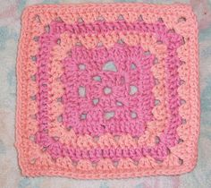 """free 7"""" crochet granny square patterns from crochetpatterncentral.com"""