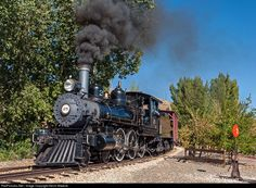 Bound for Carson City. One of only 2 remaining operable steam locomotives from the famed Virginia & Truckee shortline, the V&T #25 hauls a short excursion train around the loop at the Nevada State Railroad Museum in Carson City. Although she runs on a loop that is only about a mile in length, and despite the fact that the museum is located right on the main drag in downtown Carson City, there are a few places around the museum grounds where, with some careful composition, you can get…