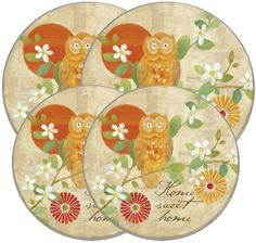 Range Kleen Wise Owl Stove Burner Cover Set~~ I just bought two sets of these a few wks ago just in case one gets messed up ; Stove Burner Covers, Mustard Yellow Walls, Owl Patterns, Wise Owl, Gas Stove, Kitchen Decor, Kitchen Ideas, Just In Case, Decorative Plates