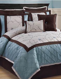 Victoria Classics Alexandria 8-pc. Blue & Brown Comforter Set   Stage Stores