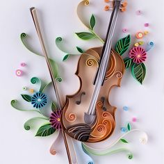 Quilling © Yulia Brodskaya (Searched by Châu Khang) Arte Quilling, Paper Quilling Cards, Quilling Letters, Paper Quilling Patterns, Quilling Craft, Quilling Ideas, Diy And Crafts, Arts And Crafts, Paper Crafts