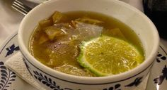 Lime soup from Xel Ha restaurant. Delicious!