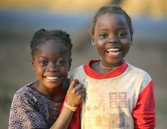 Beautiful, happy kids in  Mozambique